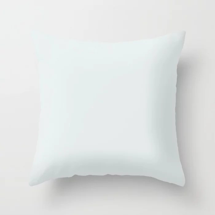 Off White Trending Solid Color Throw Pillows inspired by and pairs to (matches / coordinates with) Dutch Boy 2021 Color of the Year Accent Hue Cooled Breeze 136-1DB