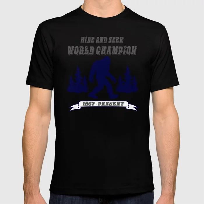 Hide And Seek World Champion Bigfoot T Shirt By Timmiklos