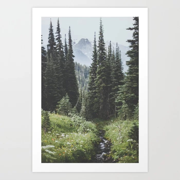 Sunday's Society6 | Outdoor woods photo art print