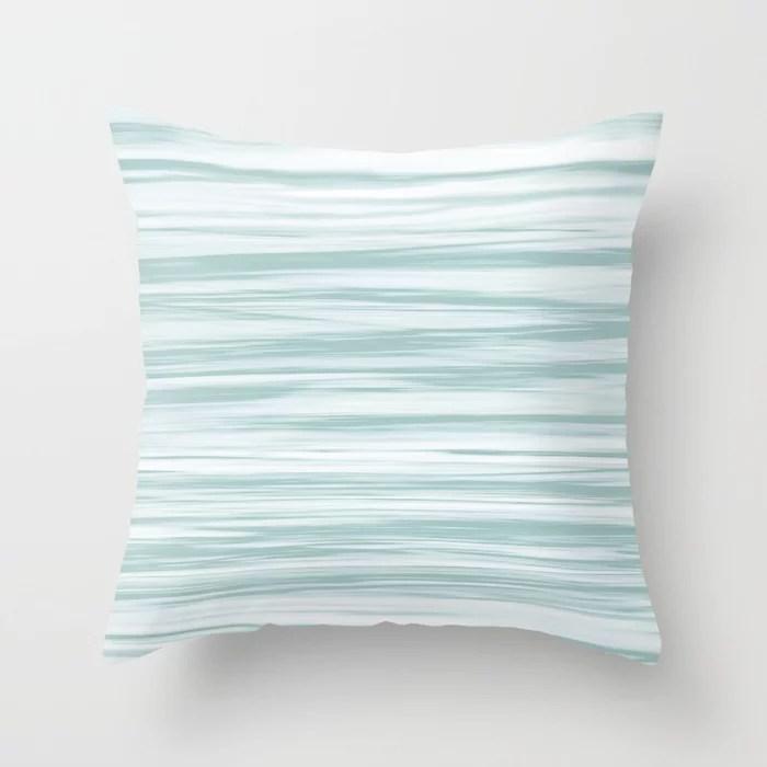 Pastel Blue Soft Focus Motion Watercolor Blend Rustoleum Serenity Blue Throw Pillow