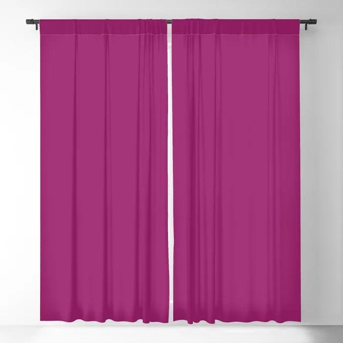 Orchid Flower Deep Pink Purple Solid Color 2022 Colour of the Year Blackout Curtain. 2022 color trend - color scheme