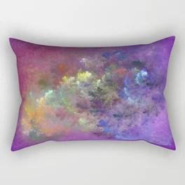 Riot of Colour Rectangular Pillow