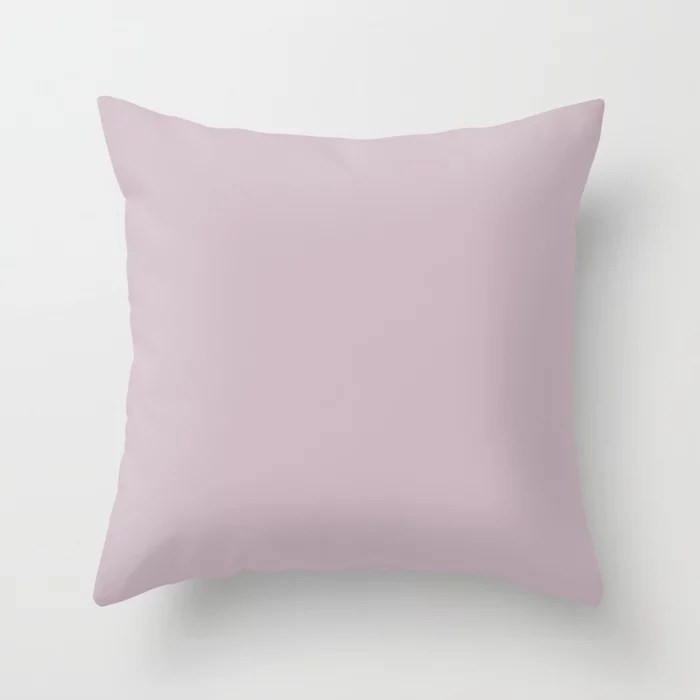 Mystical Pastel Pink Purple Solid Color Pairs To Sherwin Williams Mauve Finery SW 6282 Throw Pillow