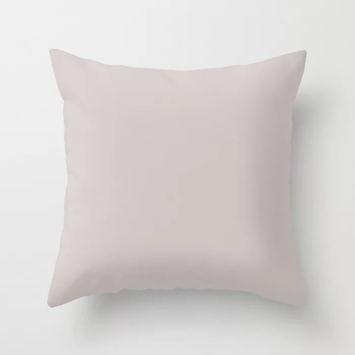 Simplified Light Pink Purple Solid Color - All Colour - Single Shade Pairs w/ Vaguely Mauve SW 6015 Throw Pillow