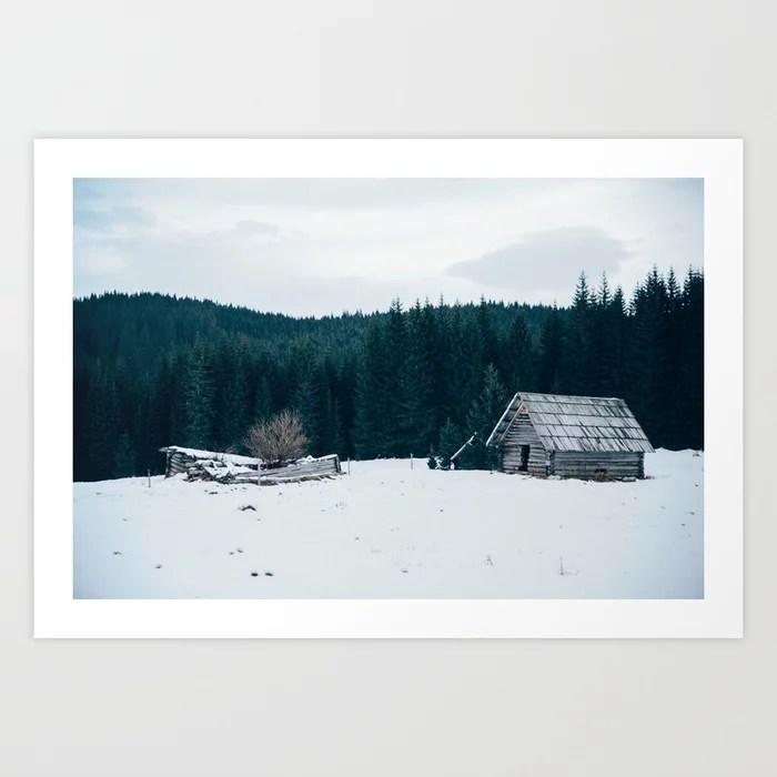 Sunday's Society6   Winter wonderland art print