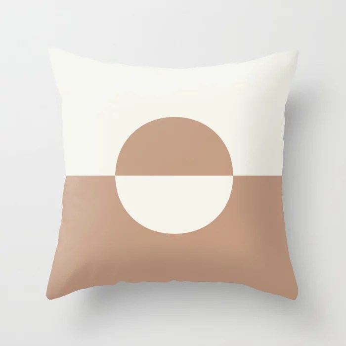 Sand Storm Beige Off White Circle Design 2 Behr 2021 Color of the Year Canyon Dusk Polar Bear Throw Pillow