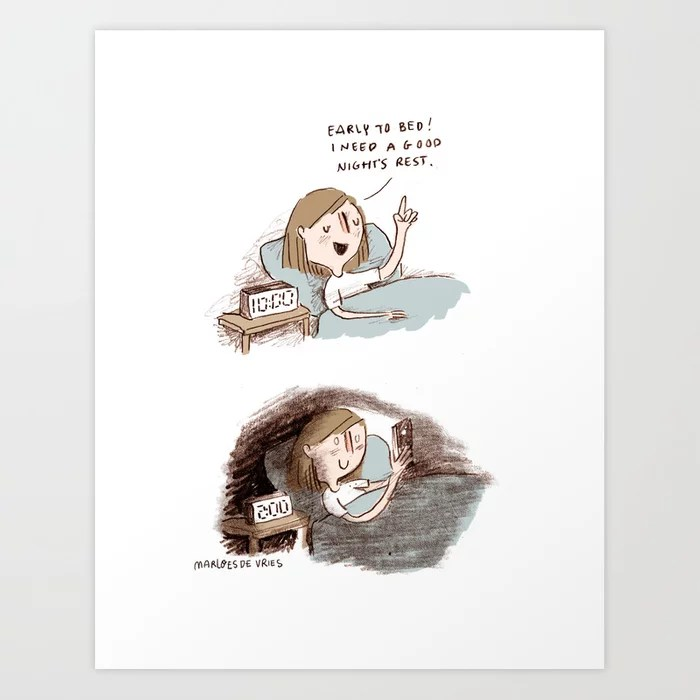 Sunday's Society6 | Illustration go to sleep