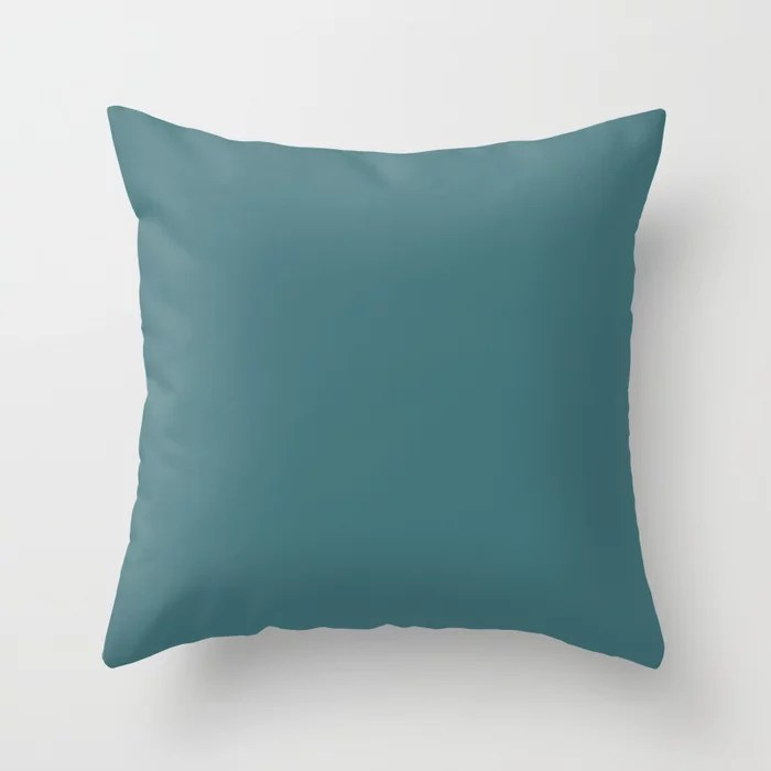 Aqua Blue Green Trending Solid Color Throw Pillows inspired by and pairs to (matches / coordinates with) Graham & Brown 2021 Color of the Year Accent Shade Whale Tail