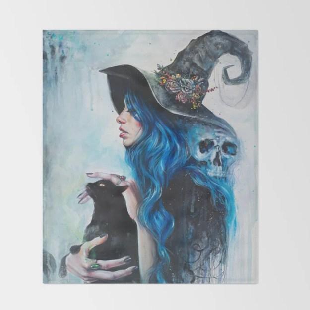 Blue Valentine Throw Blanket by Tanya Shatseva