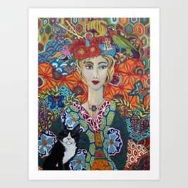 Kimono and Tuxedo Art Print