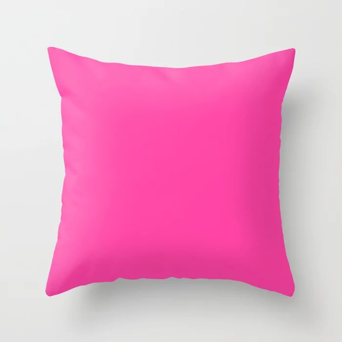 From The Crayon Box – Cerise - Bright Pink Purple Solid Color Throw Pillow