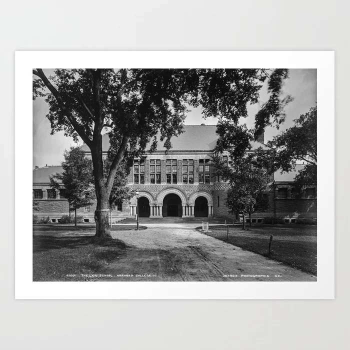 Old 1906 photo of the Law School at Harvard College or University