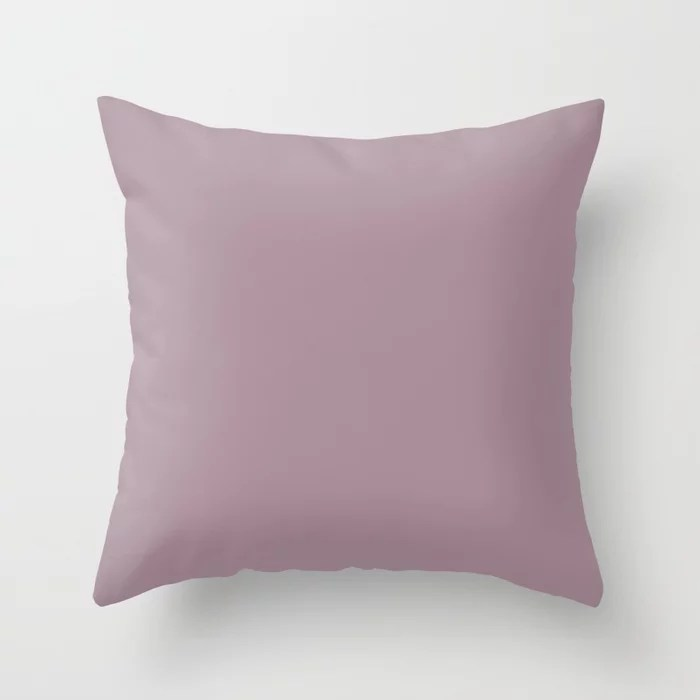 Sanctified Pastel Pink Purple Solid Color - All Colour - Single Shade Pairs w/ Thistle SW 6283 Throw Pillow