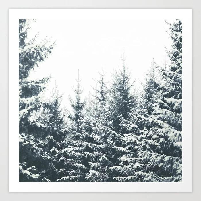 Sunday's Society6   Winter wonderland trees art print