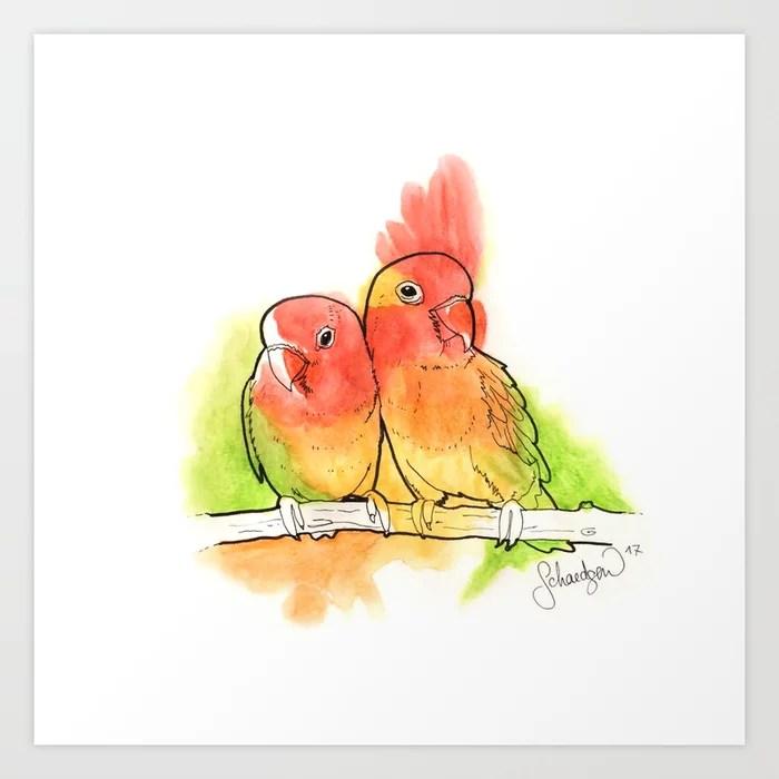 Sunday's Society6 | Tropical birds parrots art print