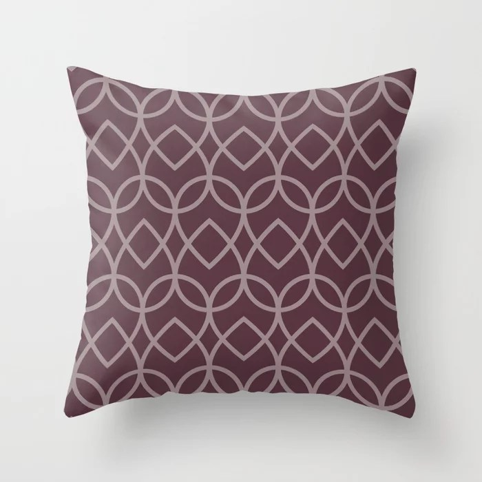 Deep Purple Pink-Purple Teardrop Geometric Pattern 2021 Color of the Year Epoch and Spiced Mulberry
