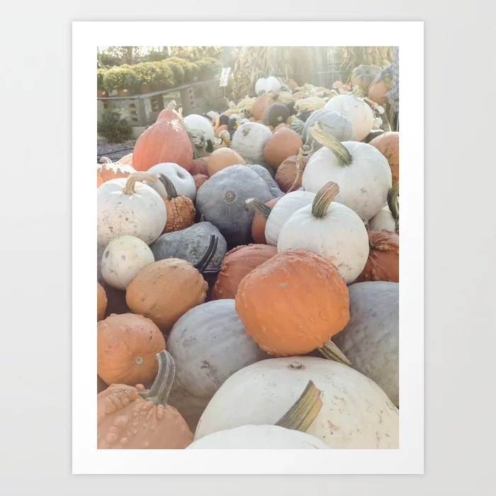 Muted Gourds III Art Print || Dreamery Events Society6