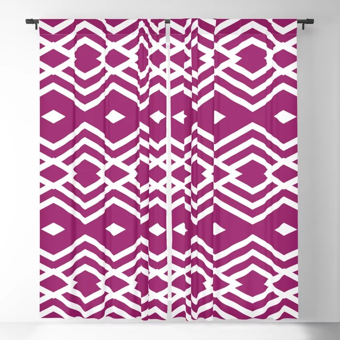 Magenta and White Stripe Diamond Pattern - Colour of the Year 2022 Orchid Flower 150-38-31 Blackout Curtain - 2022 color trends interior design