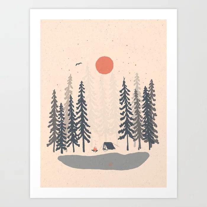 Sunday's Society6 | Outdoor camping art print