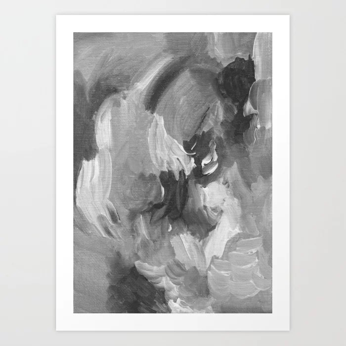Sunday's Society6 | Fifty shades of grey abstract painted art print