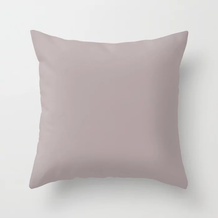 Subtle Mauve Light Pastel Purple Pink Solid Color Coordinates w/ Sherwin Williams Intuitive SW 6017 Throw Pillow