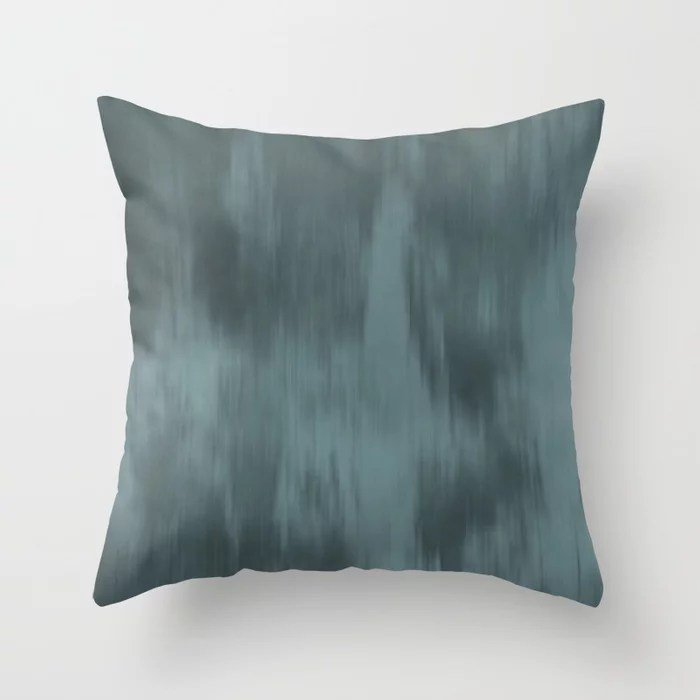 Cool Tropical Blue-Green Fusion Watercolor Blend 2021 Color of the Year Aegean Teal Throw Pillow