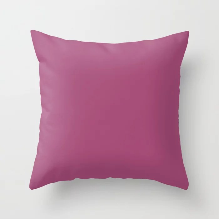 Jazz It Up Dark Pink Solid Color Pairs To PPG 2021 Trending Hue Cerise PPG17-11 Throw Pillow