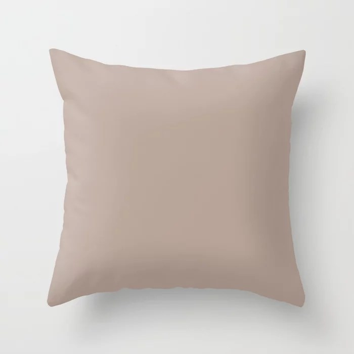 Relaxed Mauve Pink Solid Color Accent Shade / Hue Matches Sherwin Williams Emerging Taupe SW 6045 Throw Pillow