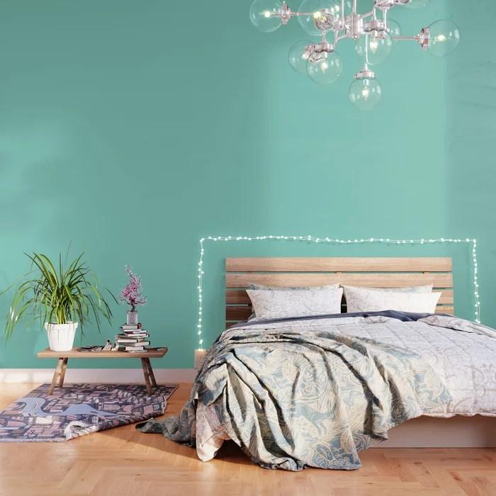 Seafoam Blue Green Wallpaper By Podartist Society6