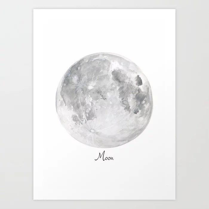 Sunday's Society6 | Moon watercolor art print