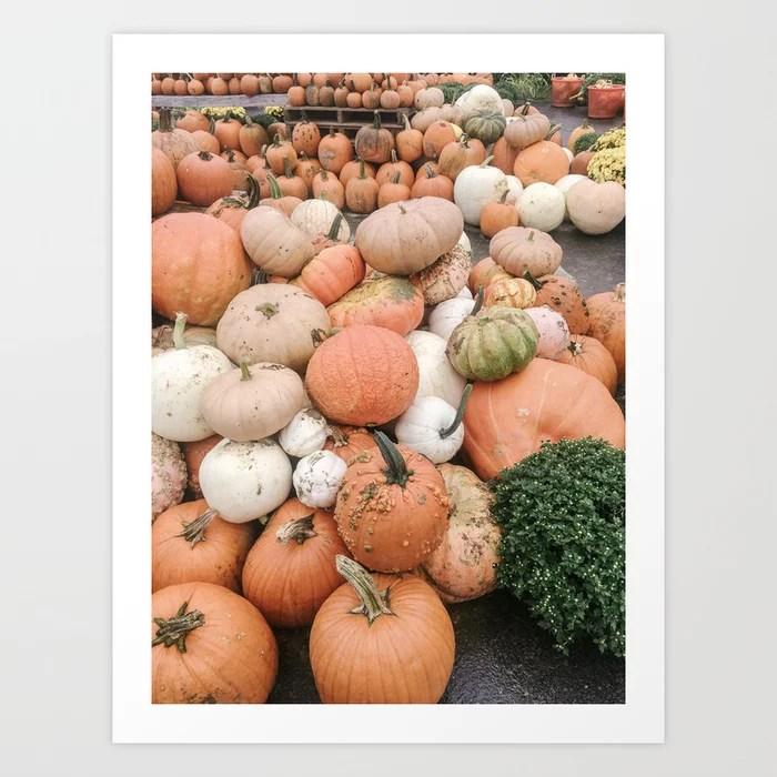 Modern Pumpkin Patch Art Print || Dreamery Society6 Shop