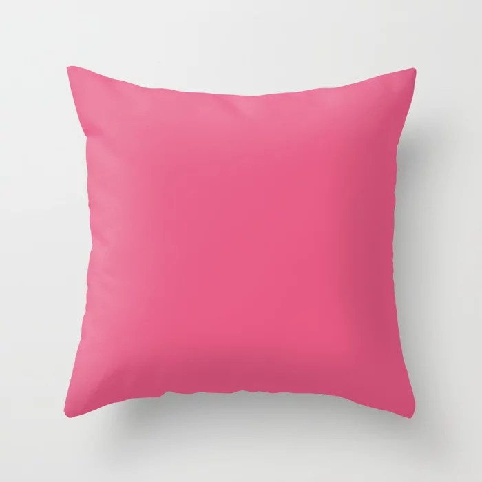 Solid Color - Pantone Hot Pink 17-1937 Throw Pillow