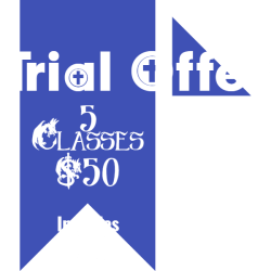 Trial Offer 5 Classes for $50