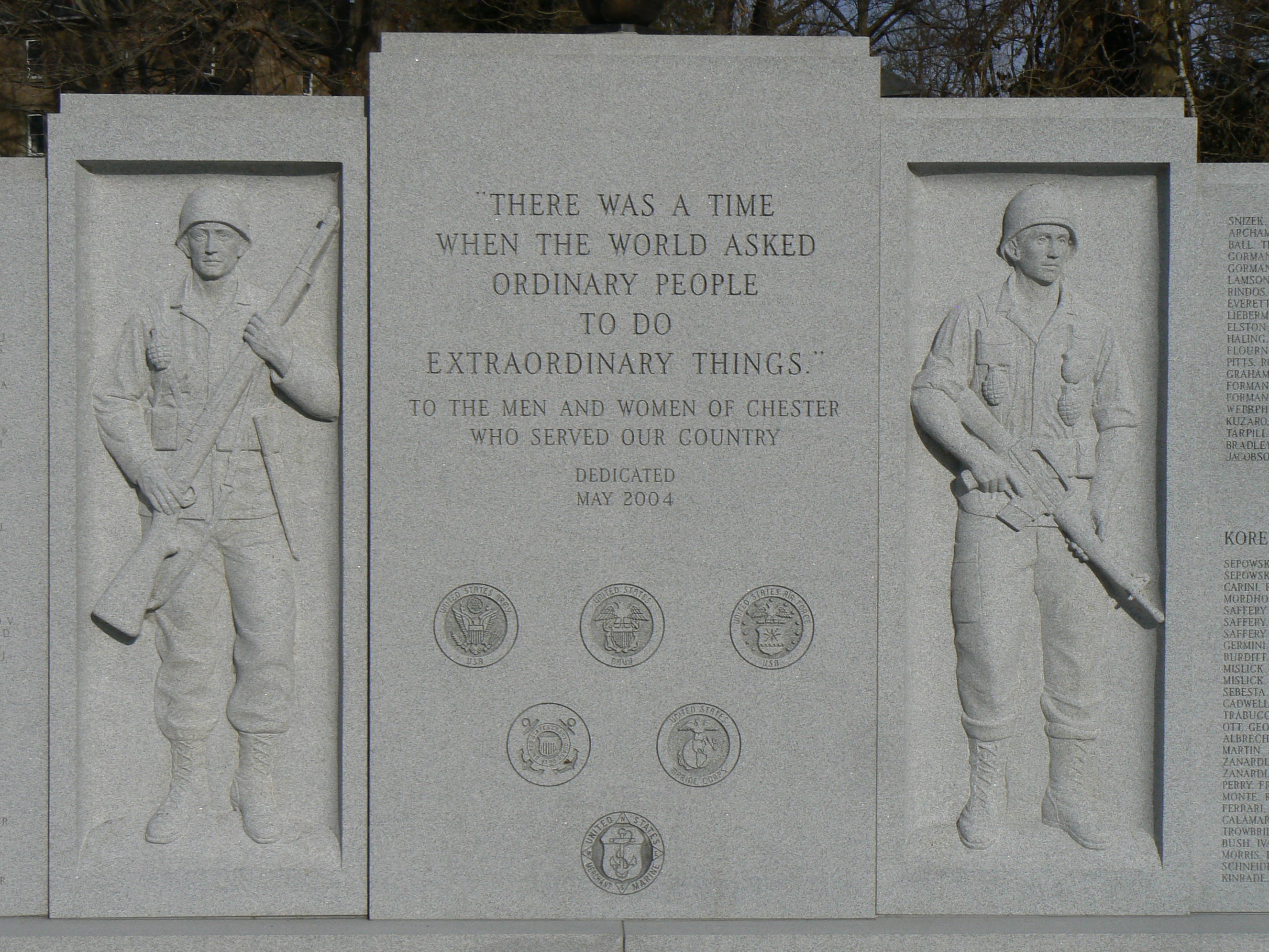 War Memorial Chester Ct Monuments