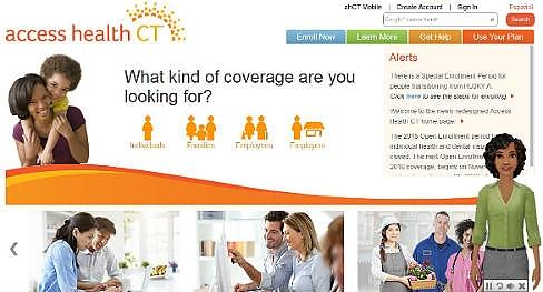 Access Health CT's website