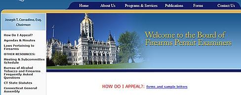 Screen grab of website