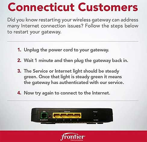 Courtesy of the Frontier Communications Facebook page