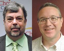 Photograph of Dr. Robert Zavoski and Jeffrey Steele