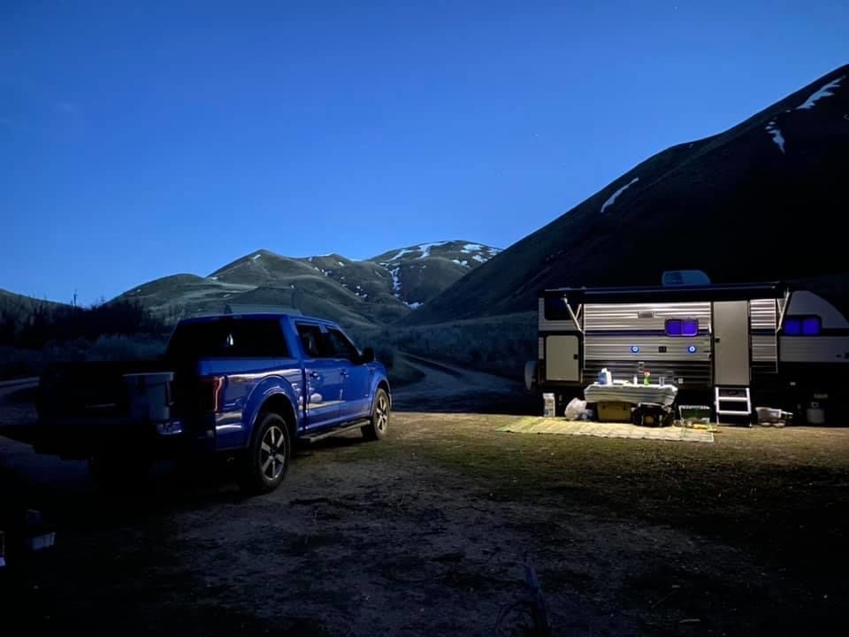 Summer road trip and camping adventure