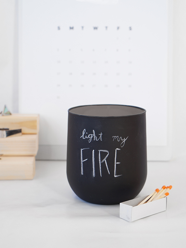 Chalk It Up: DIY Chalkboard Valentine Candle