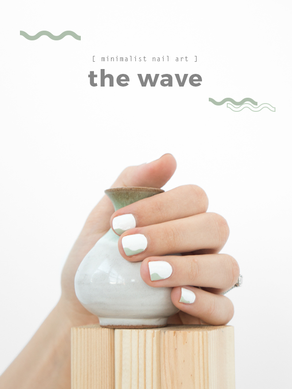 Minimalist Nail Art: The Wave