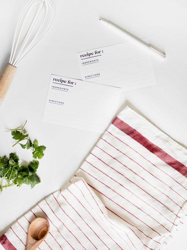 cook gift guide | almost makes perfect minimal recipe cards