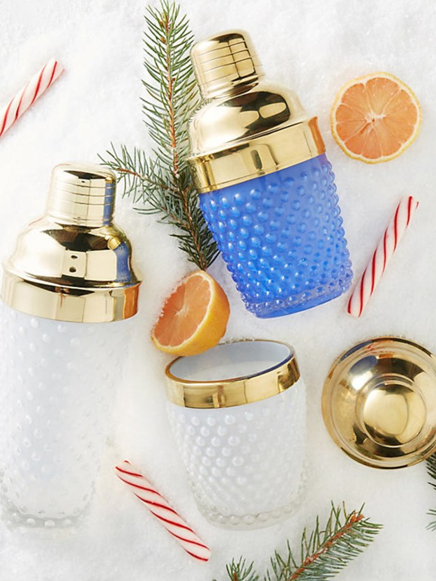 cocktail gift guide | anthropologie glass cocktail shaker