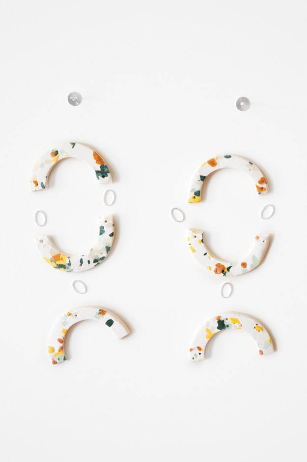 DIY Terrazzo Earrings