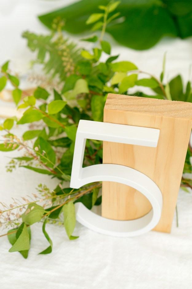 DIY Modern Table Numbers