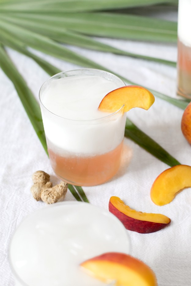 Ginger Peach Italian Soda