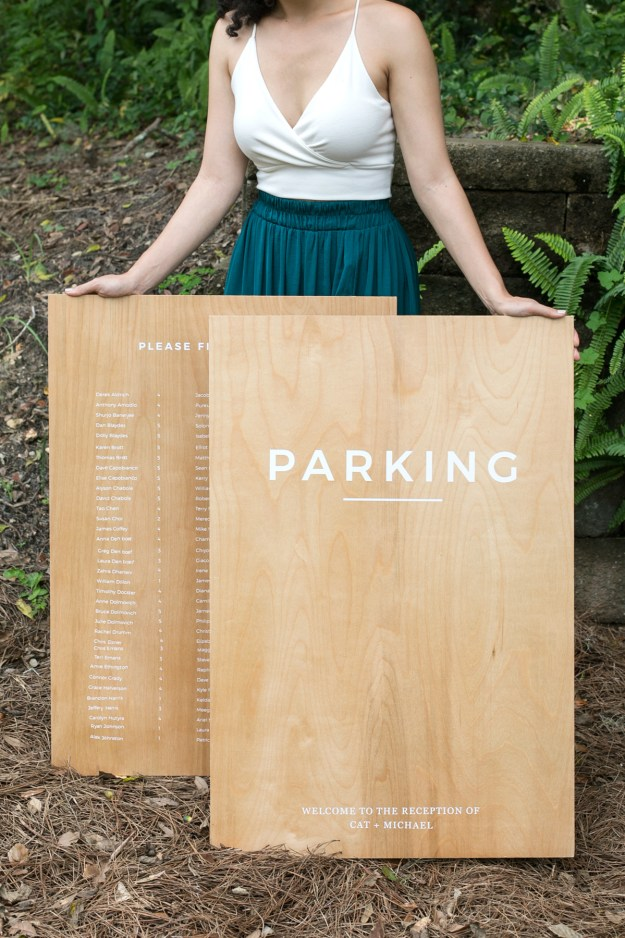 DIY Wood and Vinyl Wedding Signs