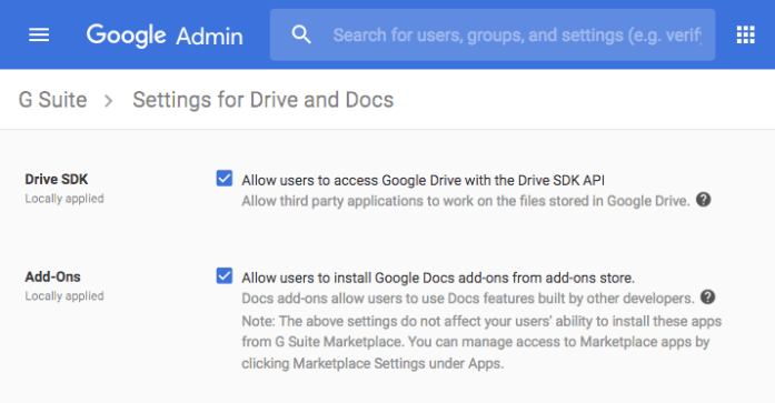 Cannot Install Gmail and Google Drive Add-ons