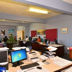 Procurement department office.