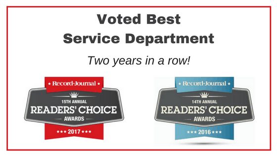 Voted Best Service Department-Vehicle Serviced
